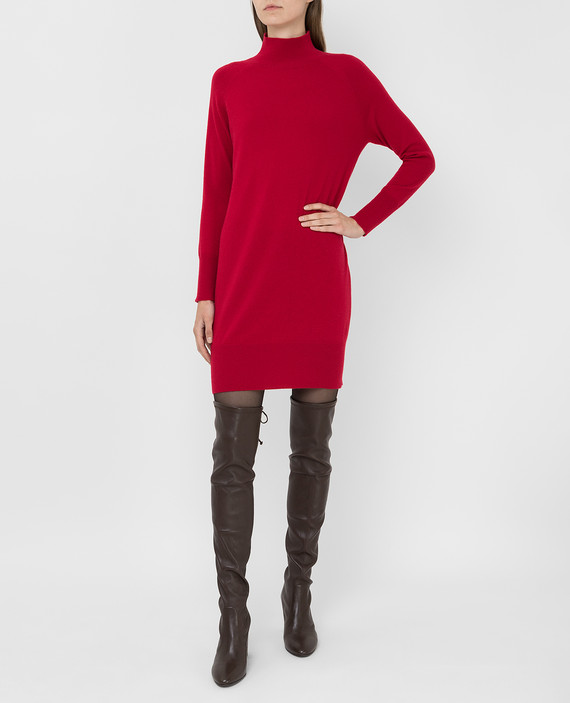 Красное платье из кашемира hover