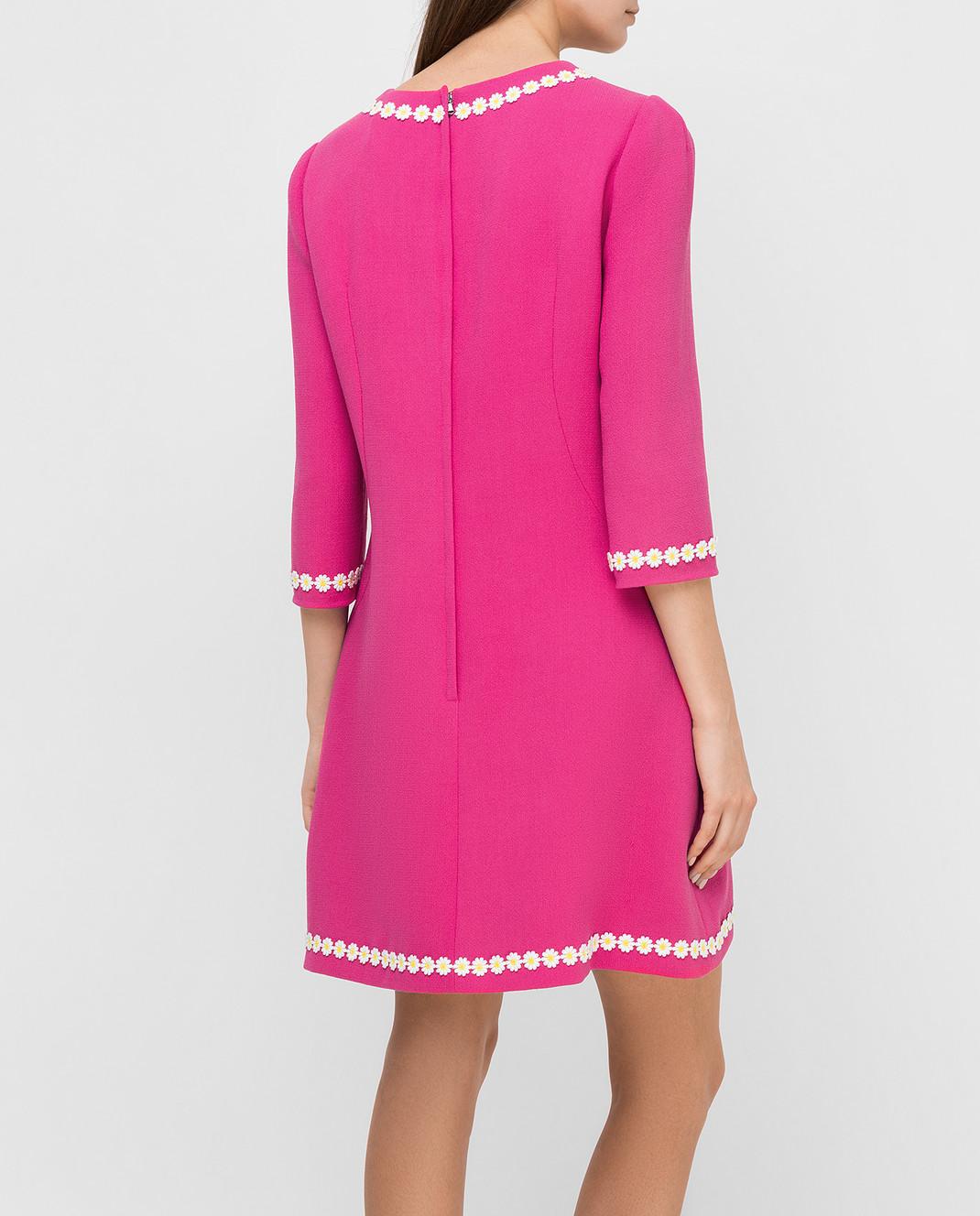 Dolce&Gabbana Розовое платье из шерсти F6UM4ZFU2TZ изображение 4