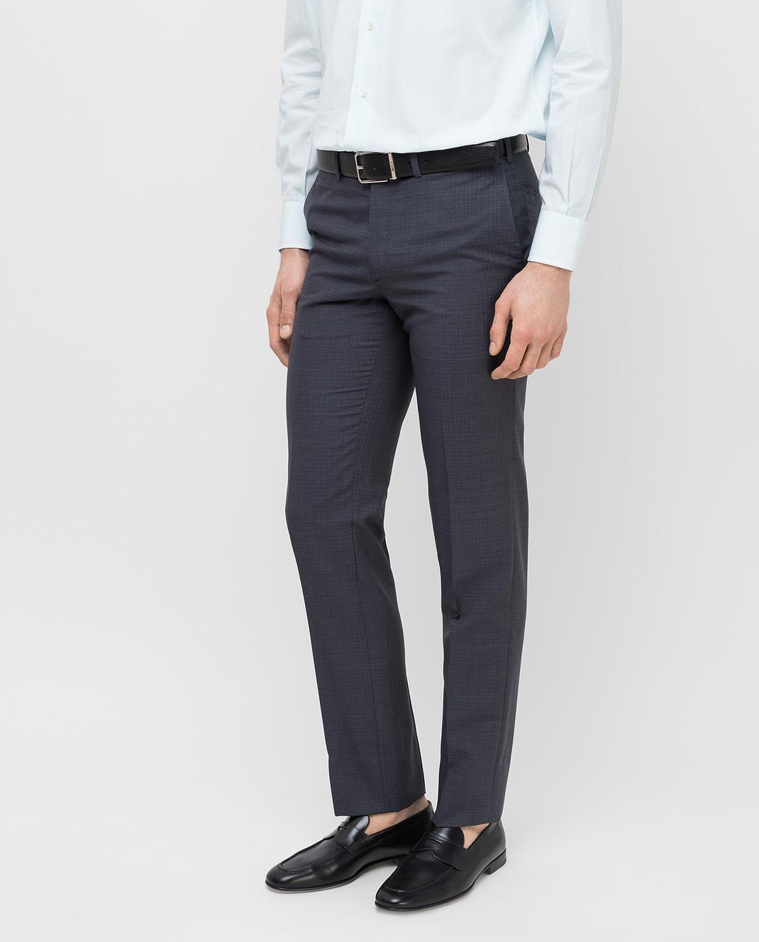 Brioni Темно-серые брюки из шерсти RPL80PP7AW7 изображение 3