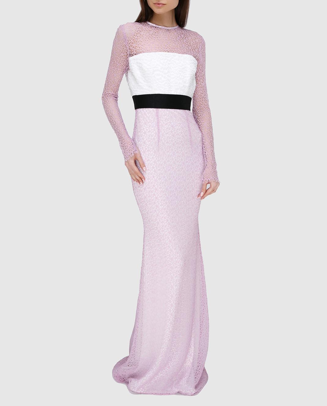 Alex Perry Сиреневое платье из кружева D936 изображение 2