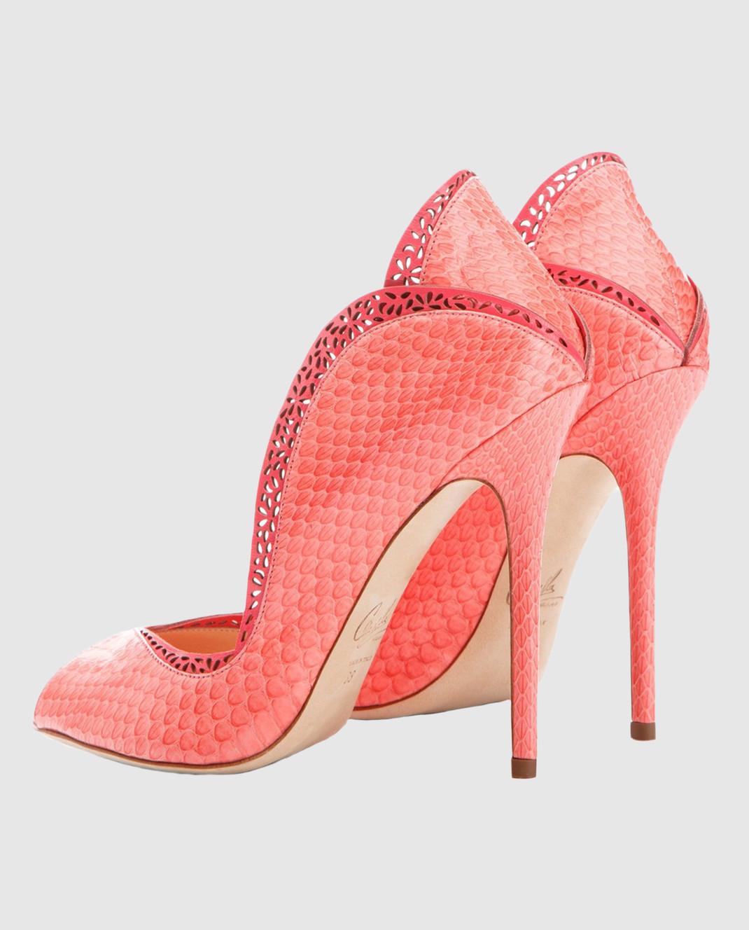 Cerasella Коралловые туфли из кожи питона DANAEELAPHE DANAEELAPHE изображение 4