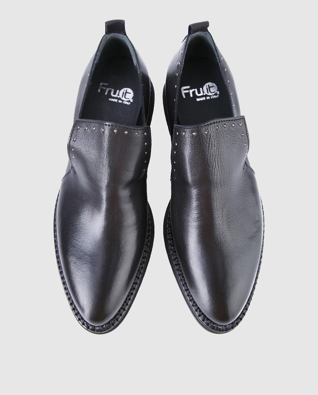 Fru it Черные кожаные туфли 4977 изображение 4