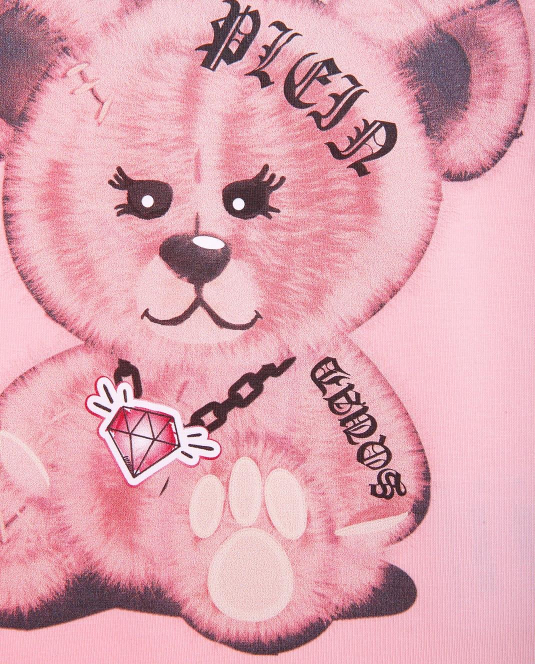 Philipp Plein Детская розовая футболка CTK0002 изображение 3