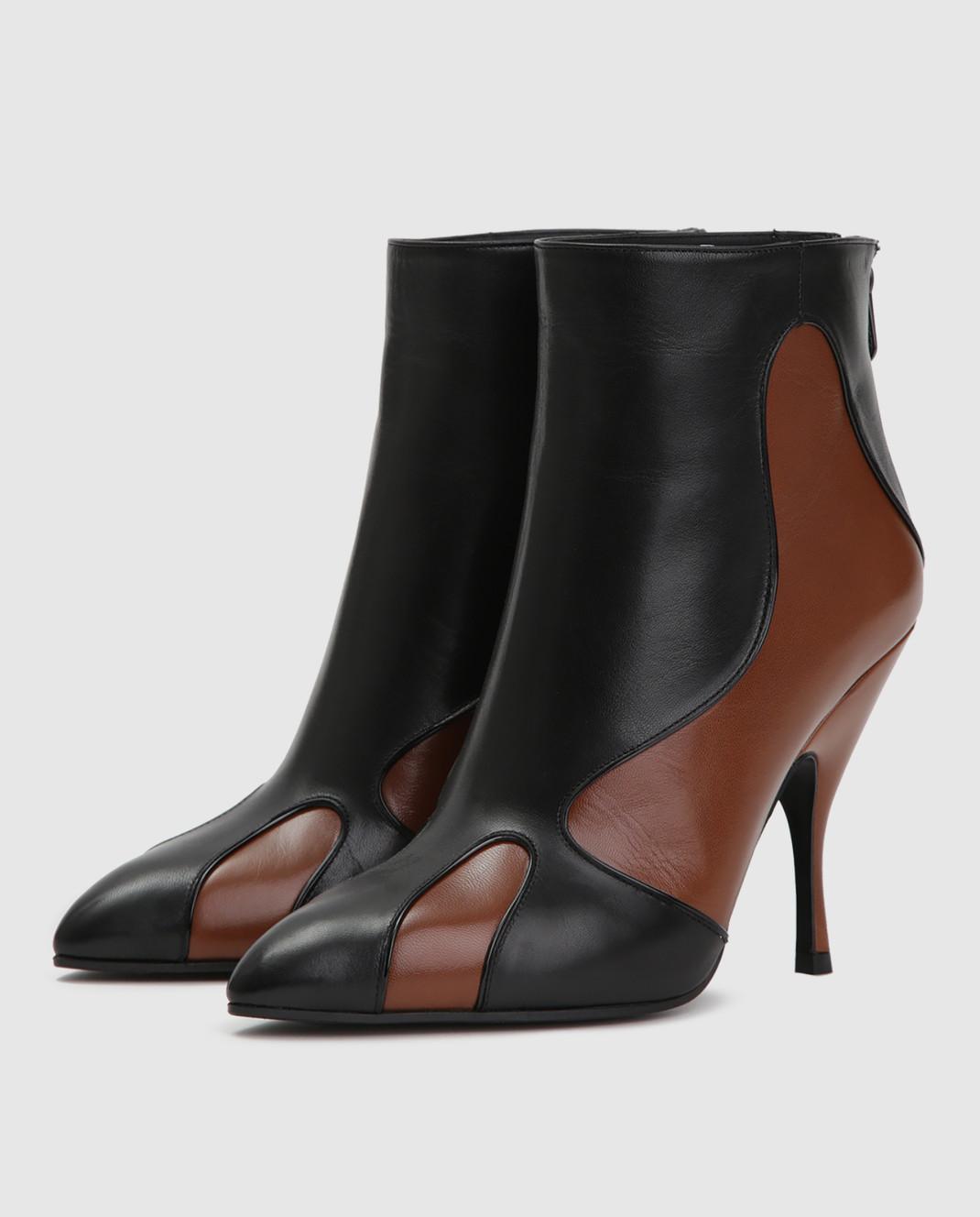 Bottega Veneta Черные кожаные ботильоны 533051 изображение 3