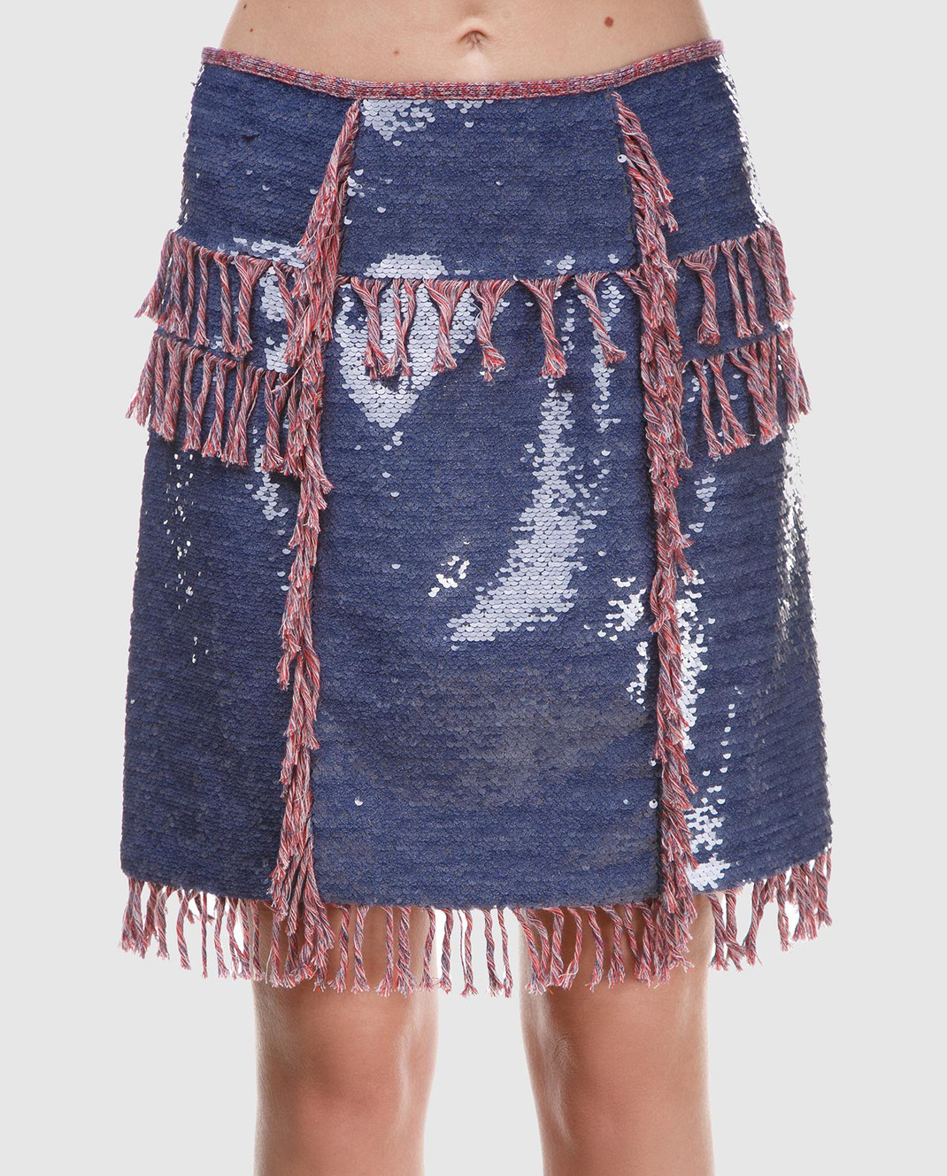 Balmain Синяя юбка с пайетками 124500 изображение 3
