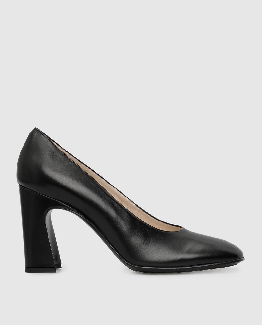 Tods Черные кожаные туфли изображение 1