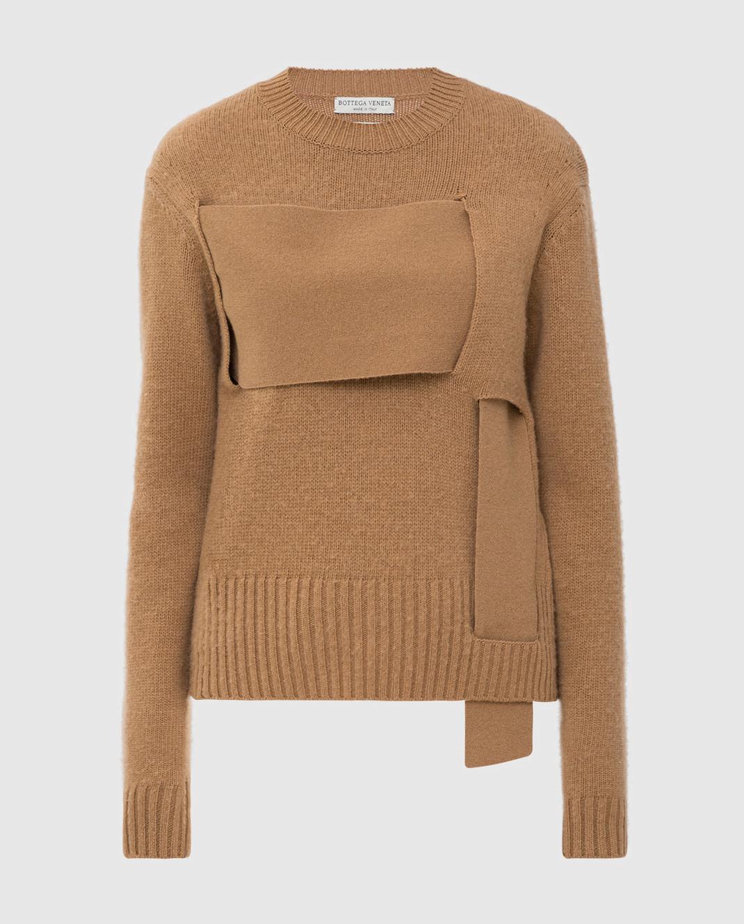 Bottega Veneta Бежевый свитер из шерсти 577543
