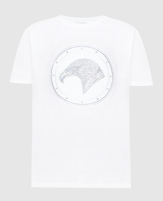 Белая футболка с кристаллами