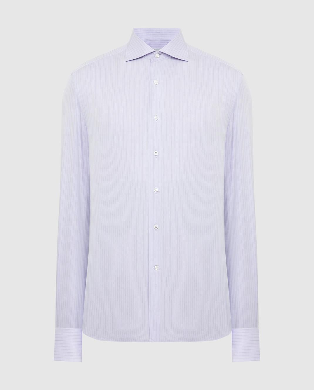 Stefano Ricci Сиреневая рубашка MC000540L1812