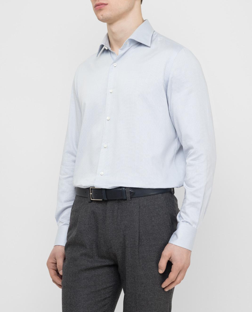 Luciano Lombardi Голубая рубашка 66216210 изображение 3