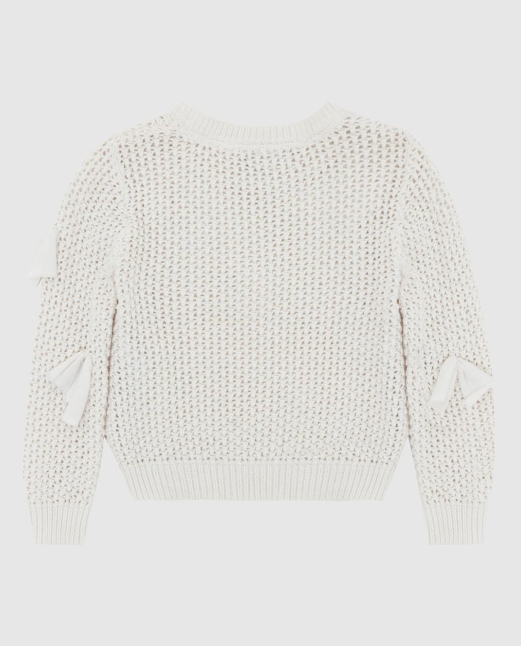 Twin Set Детский белый свитер FS83BA изображение 2