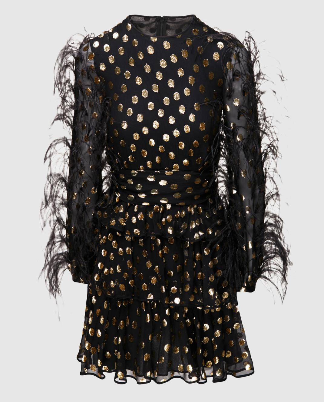 Valentino Черное шифоновое платье QB2VAIK043C