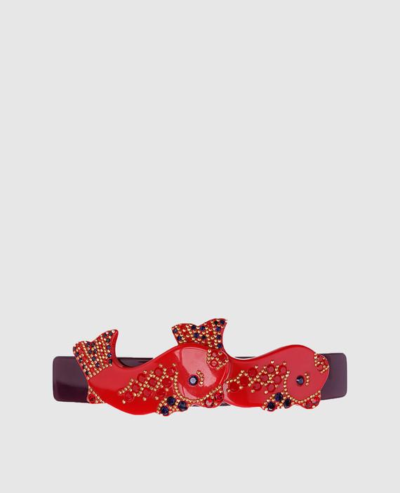 Красная заколка