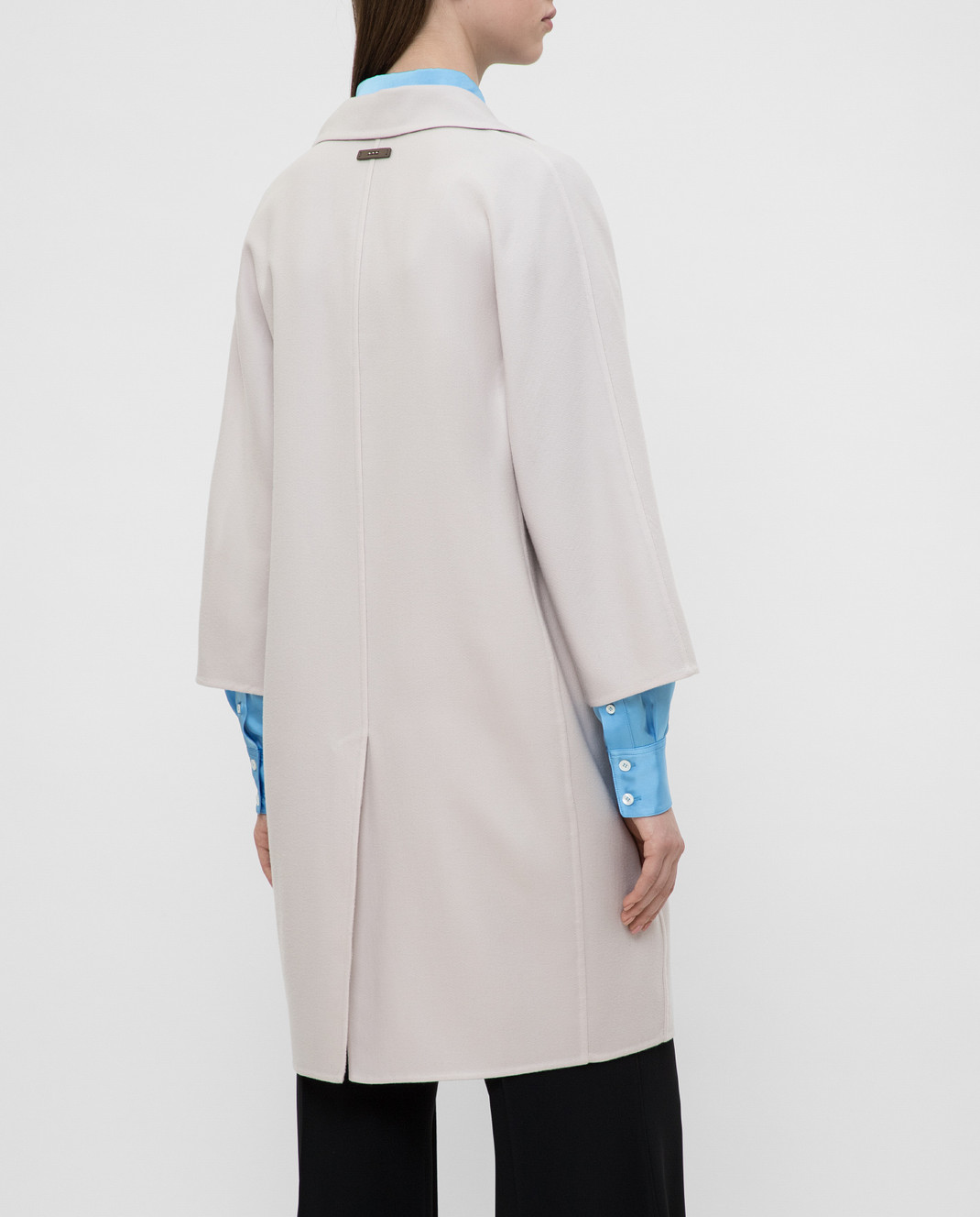 Peserico Светло-бежевое пальто из кашемира и шерсти S20493E изображение 4