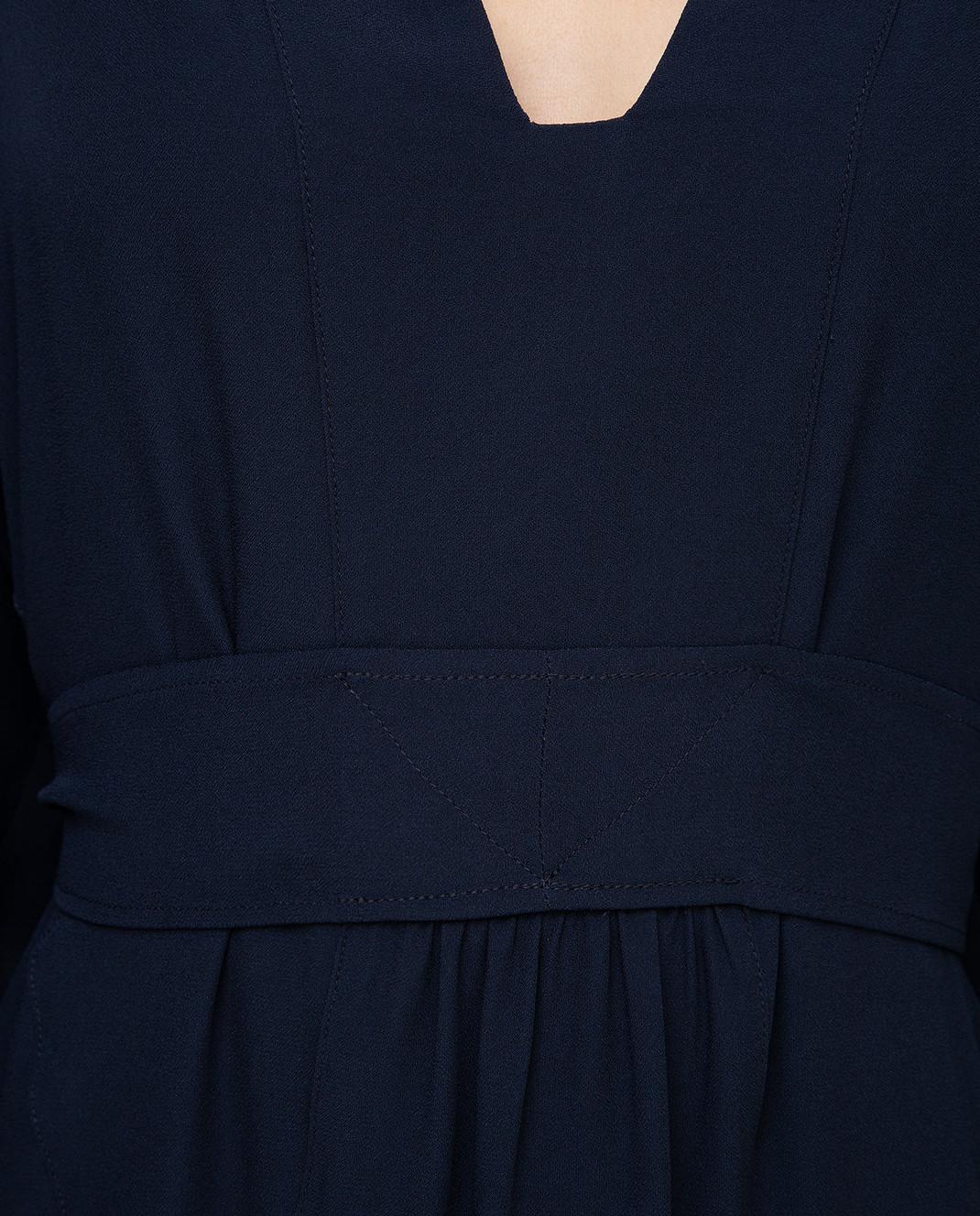 Max Mara Sportmax Темно-синее платье изображение 5