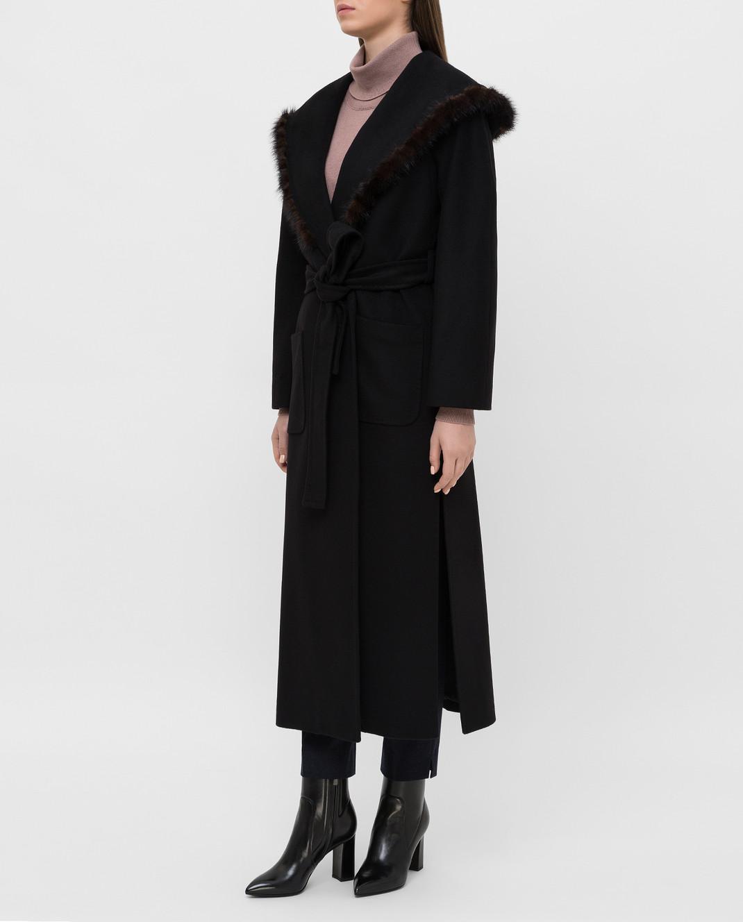 Heresis Черное пальто M33130VIA50 изображение 3