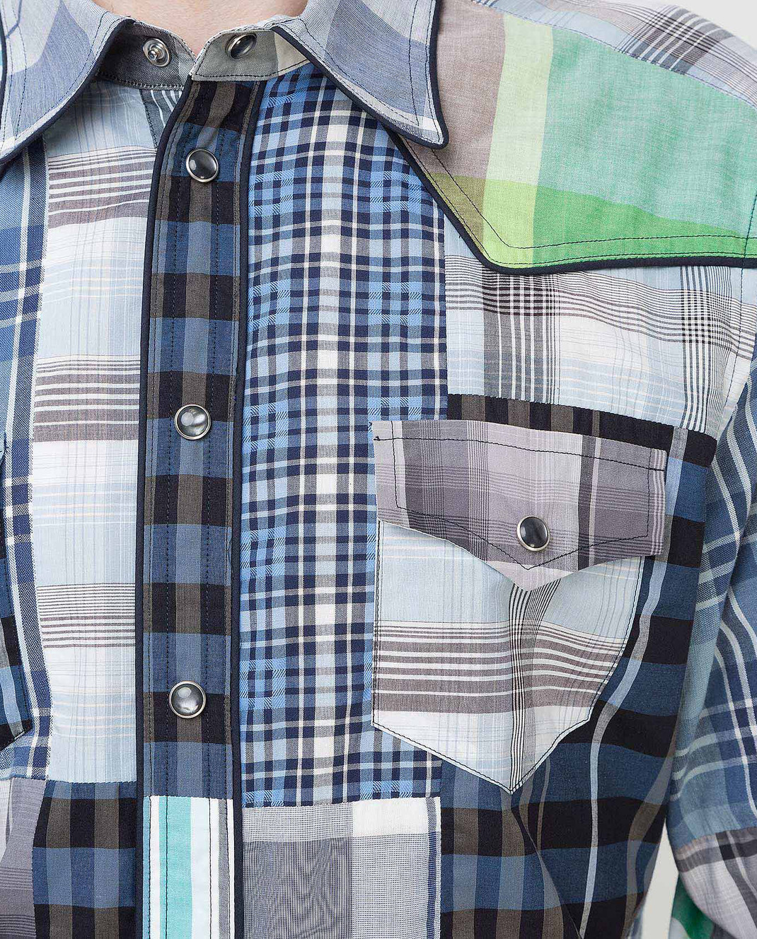 Dolce&Gabbana Синяя рубашка G5CS8TG9Y16 изображение 5