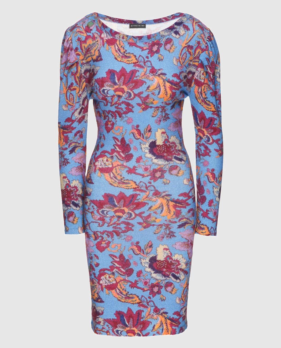 Etro Синее платье из шерсти D15673