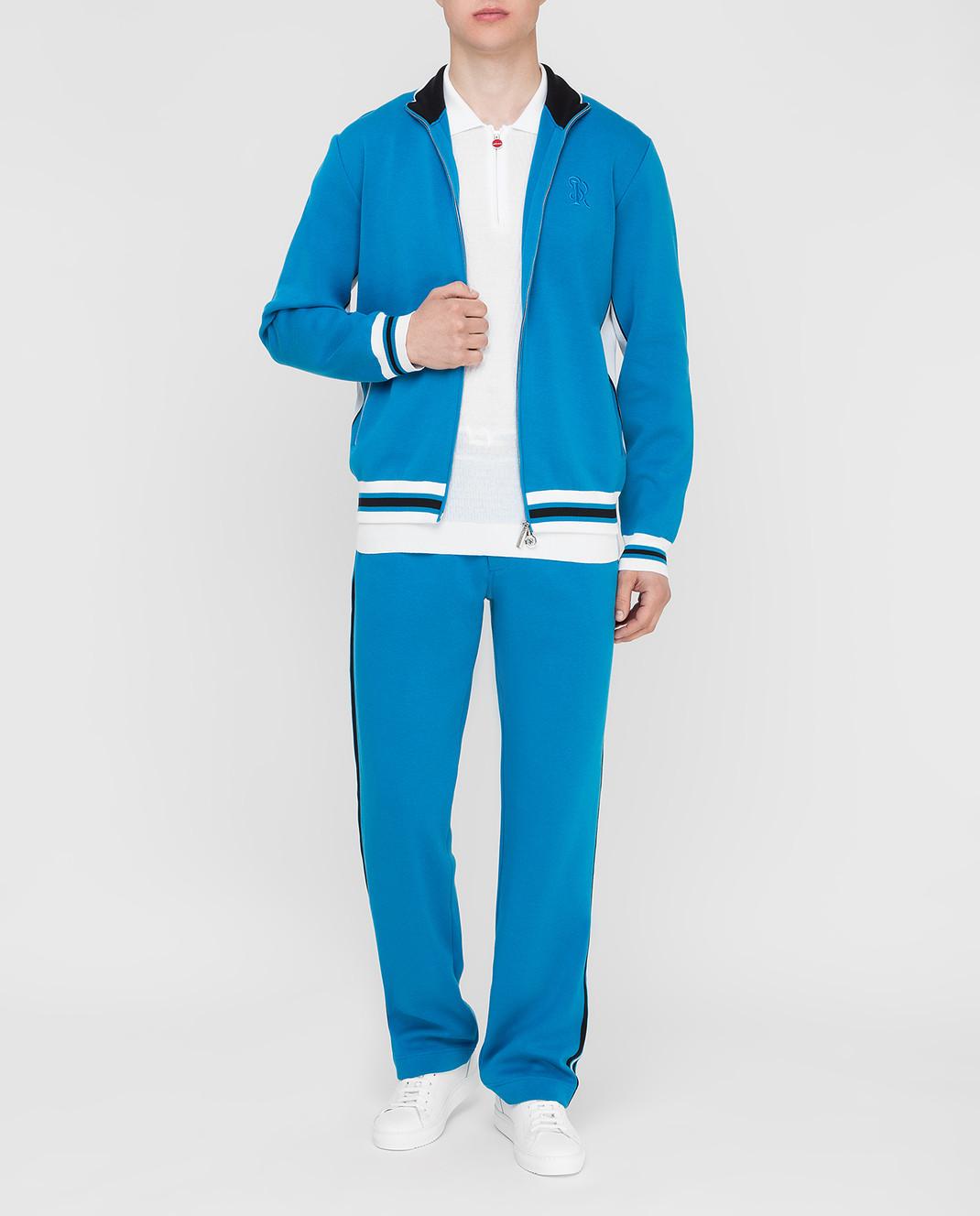 Stefano Ricci Синие спортивные брюки изображение 2