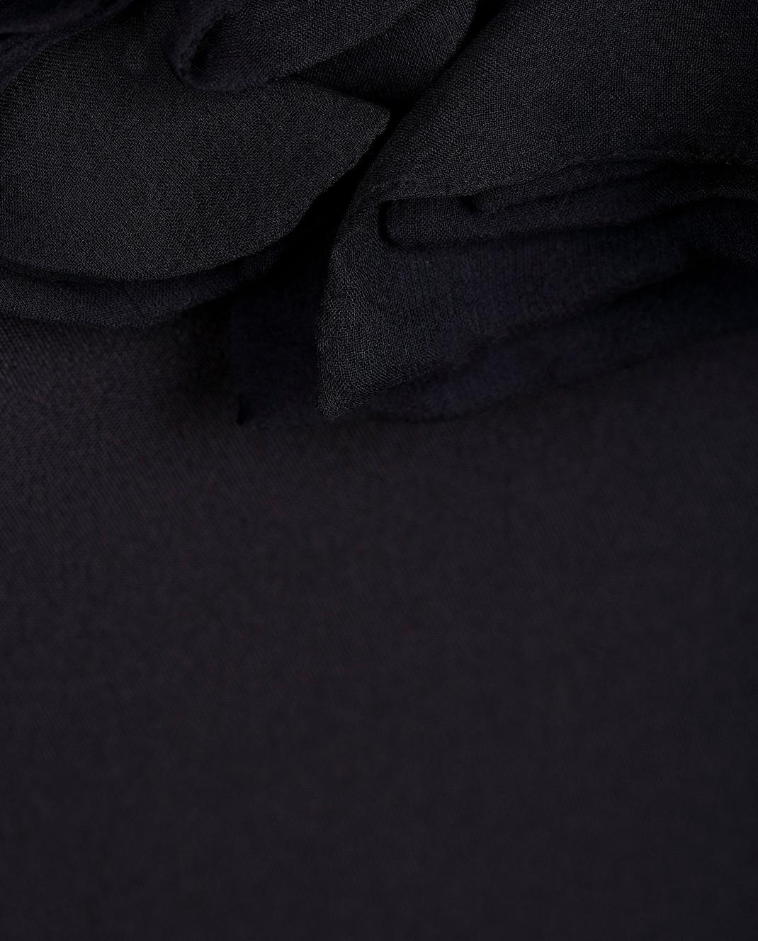 Valentino Черное платье из шелка B0AB3S0 изображение 5