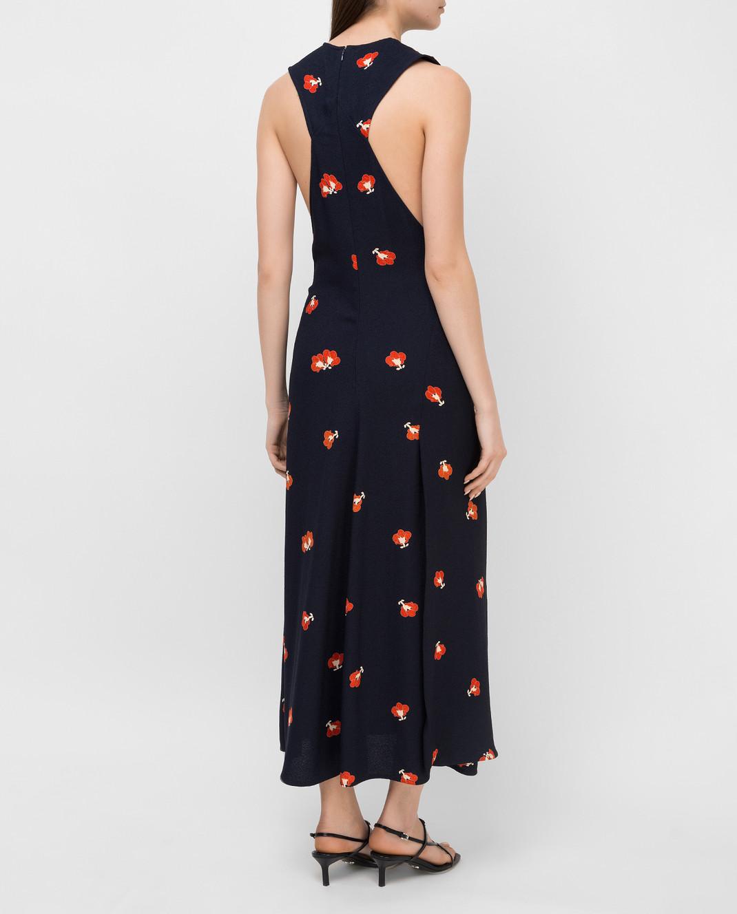 Victoria Beckham Темно-синее платье DRMID6317C изображение 4