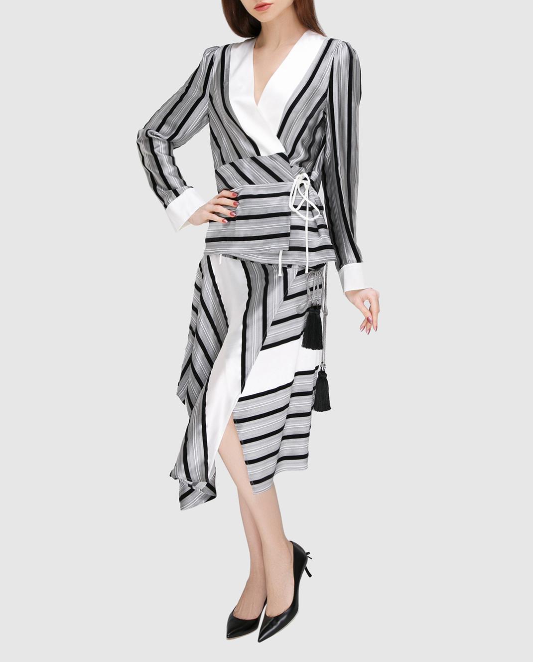 Etro Серая юбка из шелка изображение 2