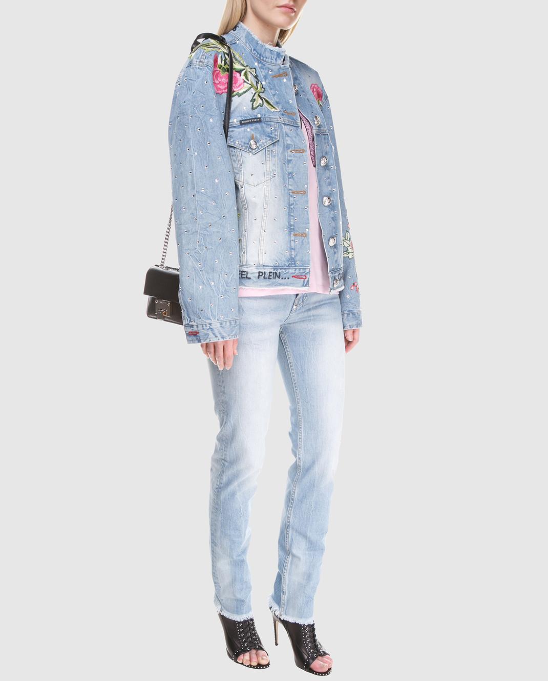 Philipp Plein Голубые джинсы изображение 2