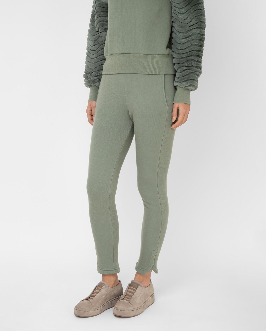 Mr&Mrs Italy Зеленые спортивные брюки JG054E изображение 3
