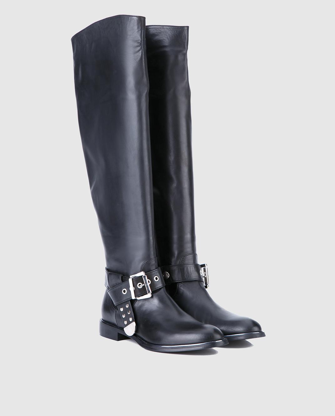 Fru it Черные кожаные сапоги изображение 2