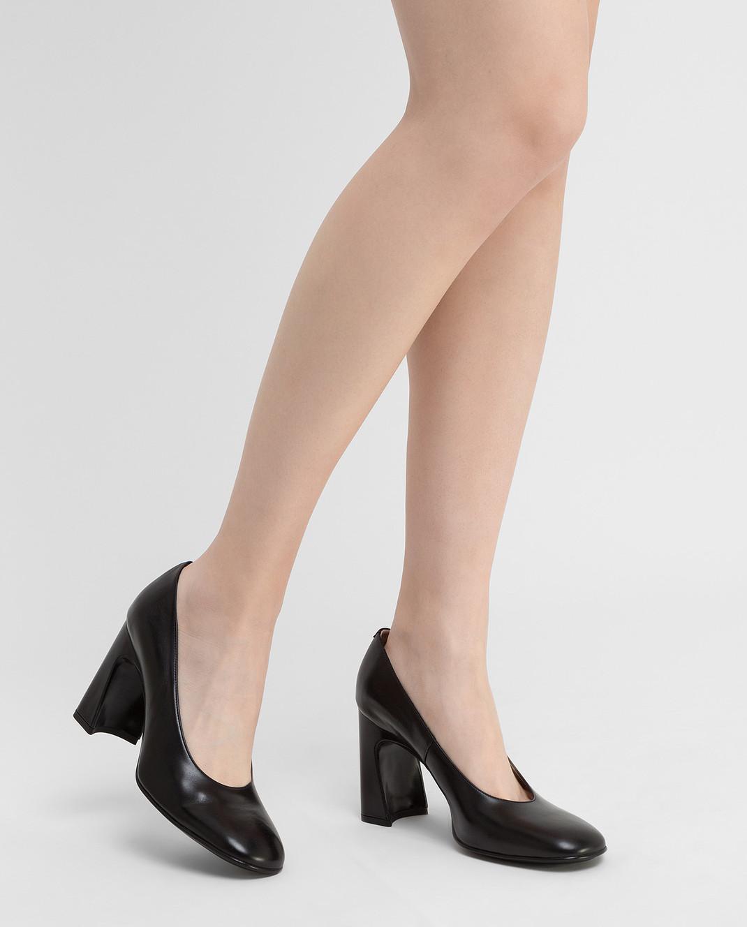 Tods Черные кожаные туфли изображение 2