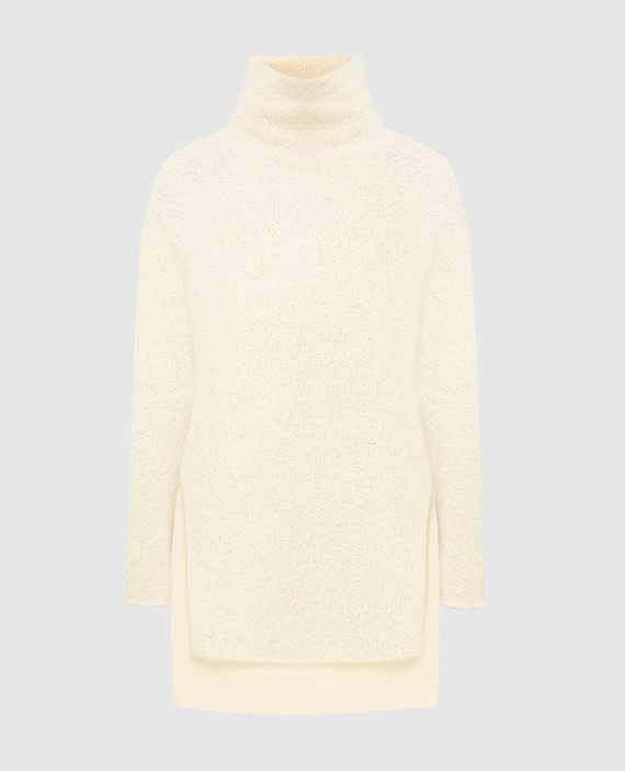 Светло-бежевый свитер из шерсти