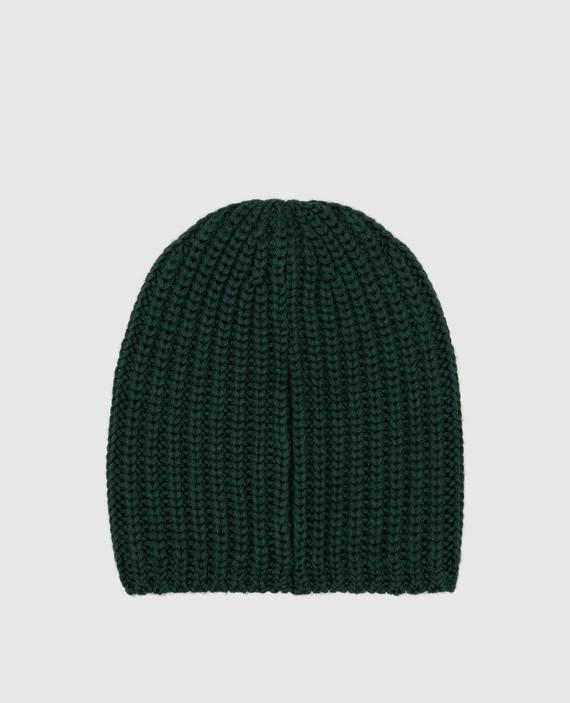 Детская зеленая шапка из шерсти hover