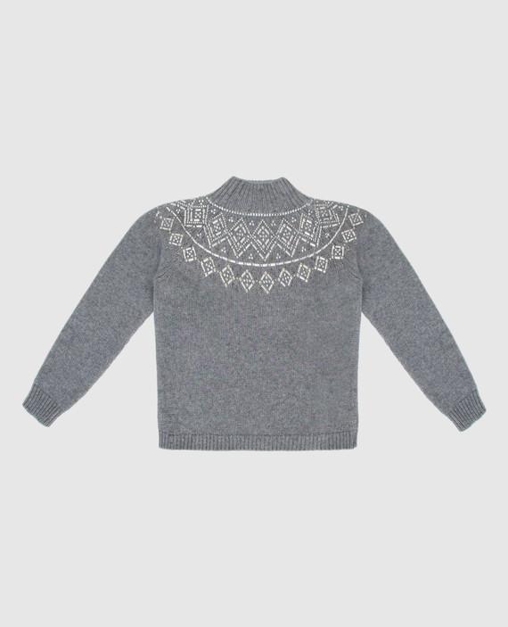 Детский серый свитер hover
