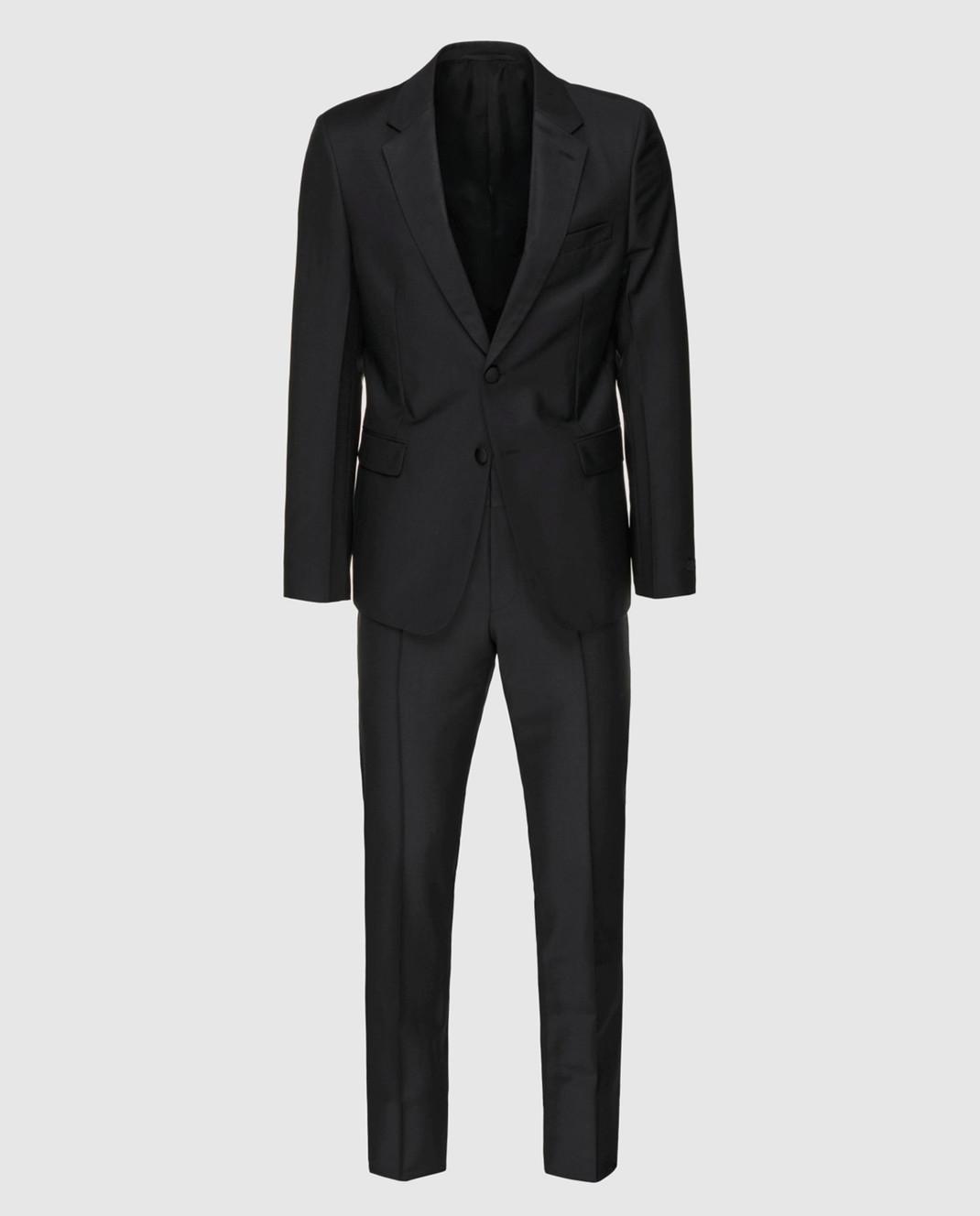 Prada Черный костюм из мохера и шерсти UAF4201KNB