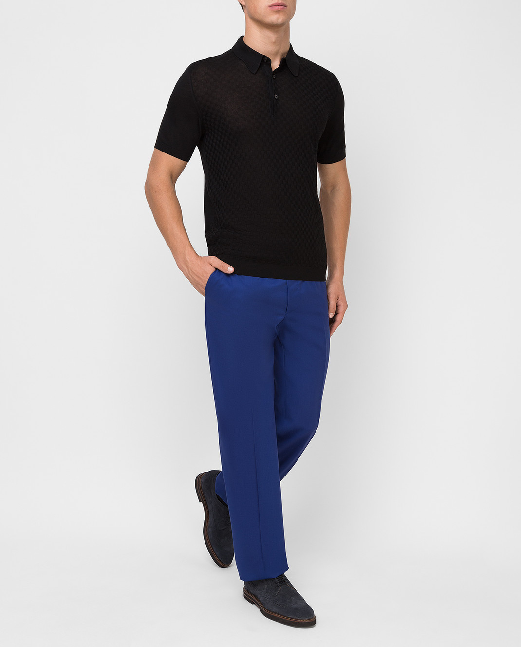 Castello d'Oro Синие брюки из шерсти изображение 2