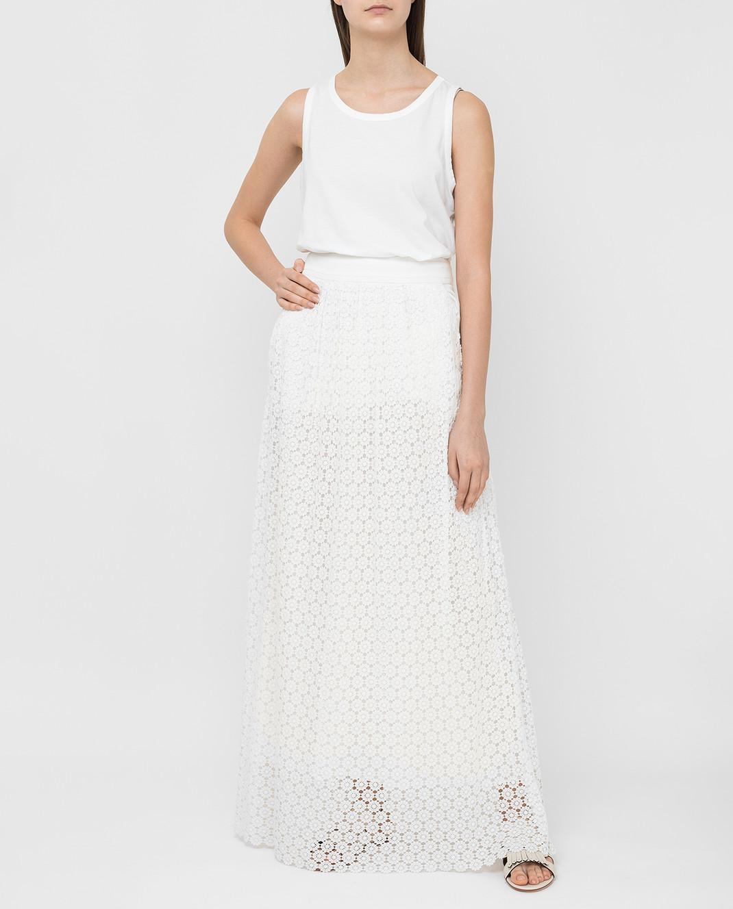 Veronique Branquinho Белая юбка VPG101AVG151A изображение 2