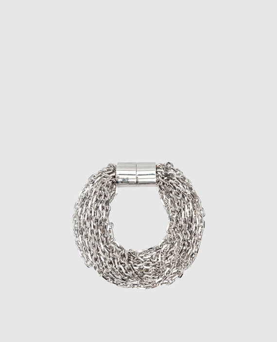 Серебристый браслет