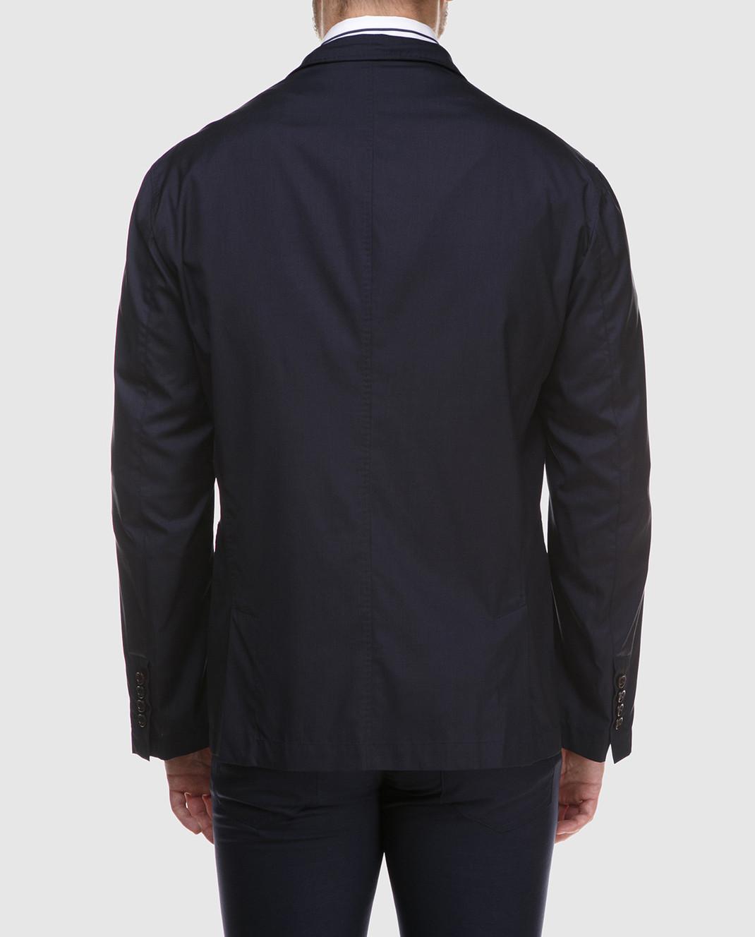 Brunello Cucinelli Темно-синий пиджак MH4626132 изображение 4