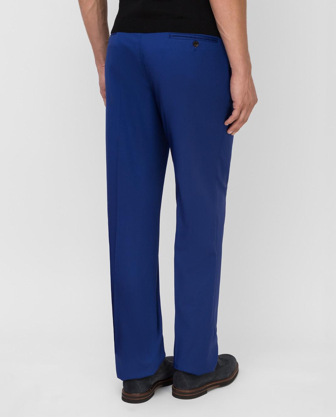 Castello d'Oro Синие брюки из шерсти изображение 4