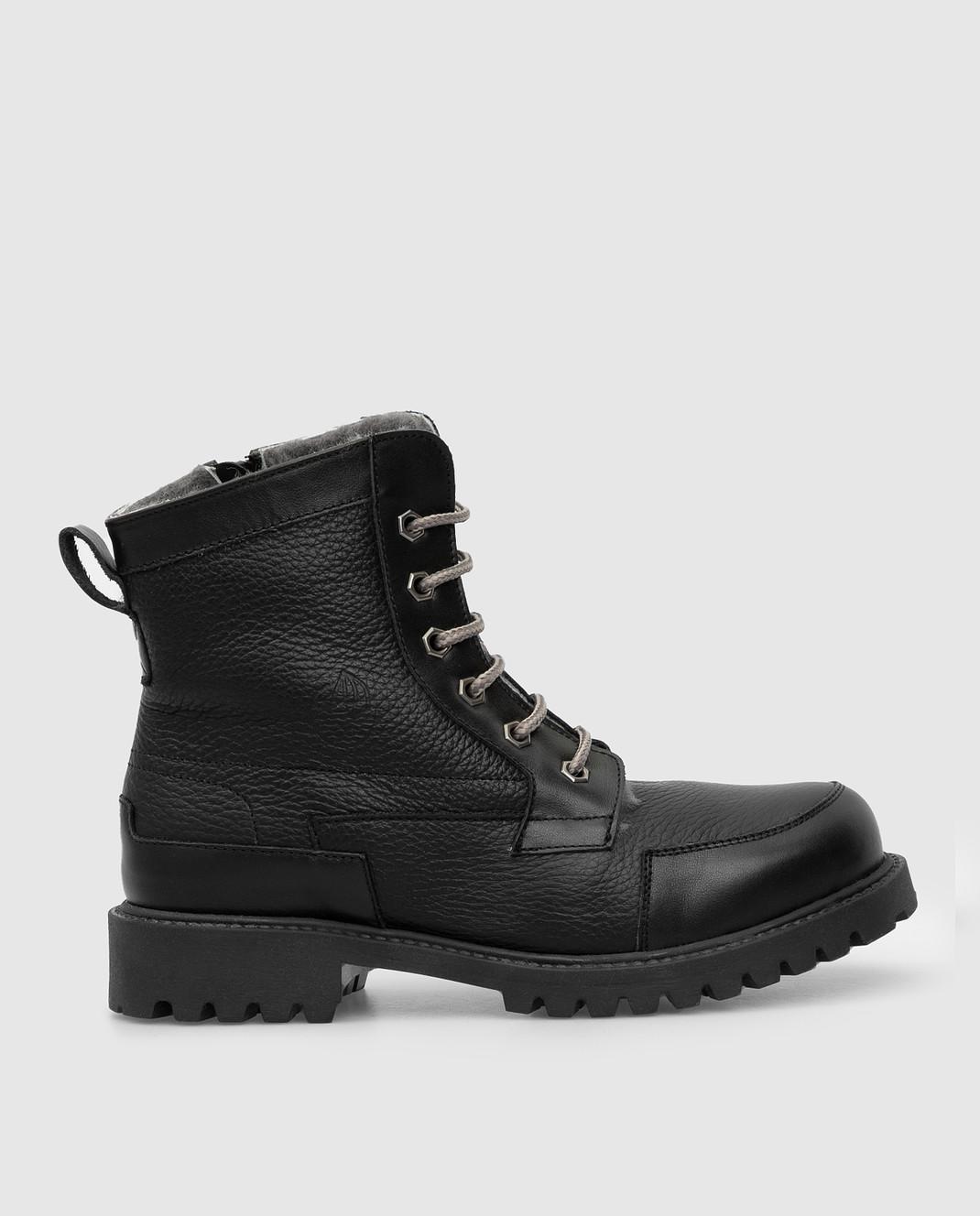 Zecchino D'oro Детские черные ботинки на меху A044123640