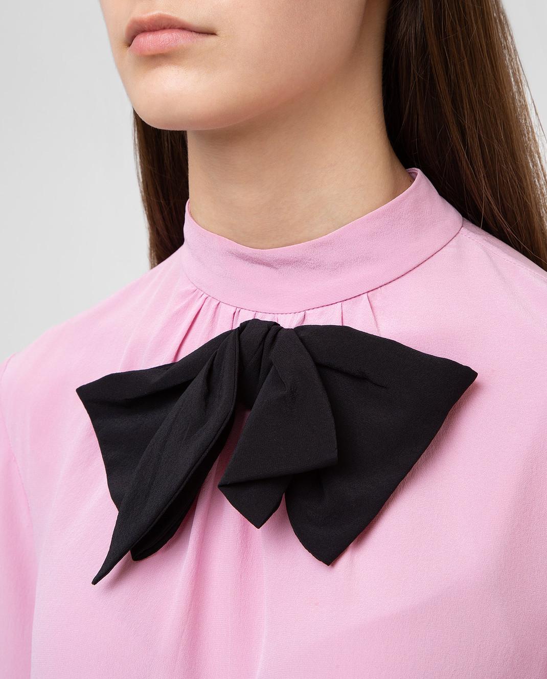 Prada Розовая блуза из шелка P970C изображение 5