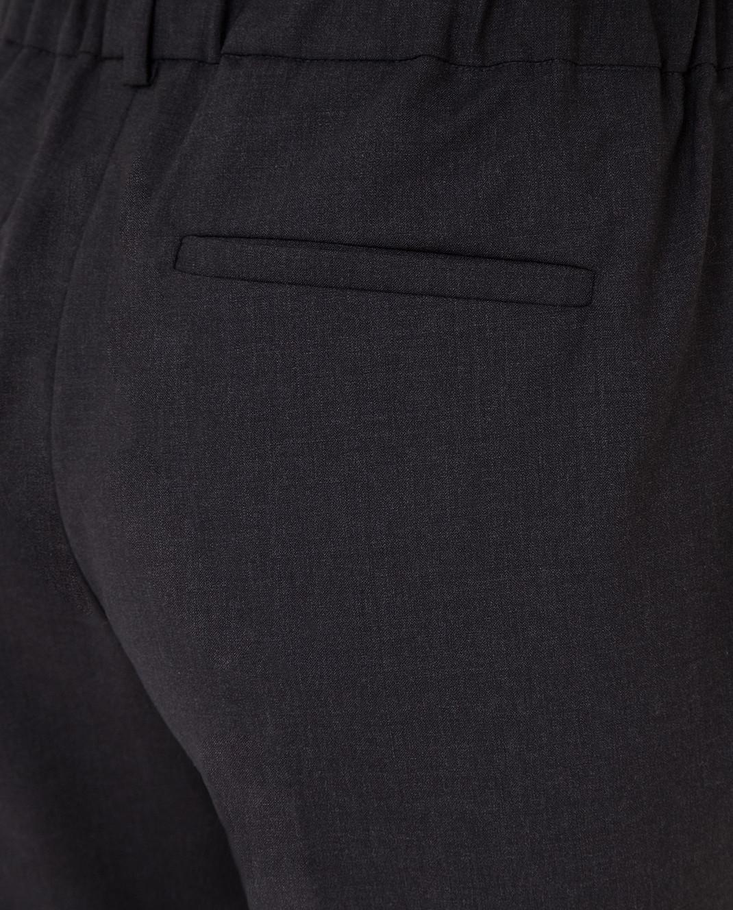 Brunello Cucinelli Темно-серые брюки из шерсти M0W07P6818 изображение 5