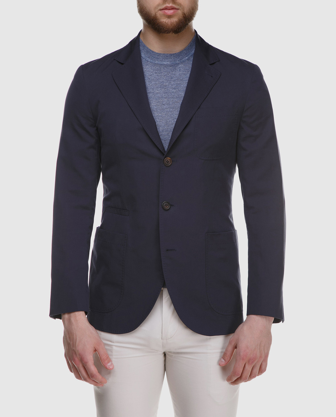 Brunello Cucinelli Темно-синий пиджак MD4007BND изображение 3