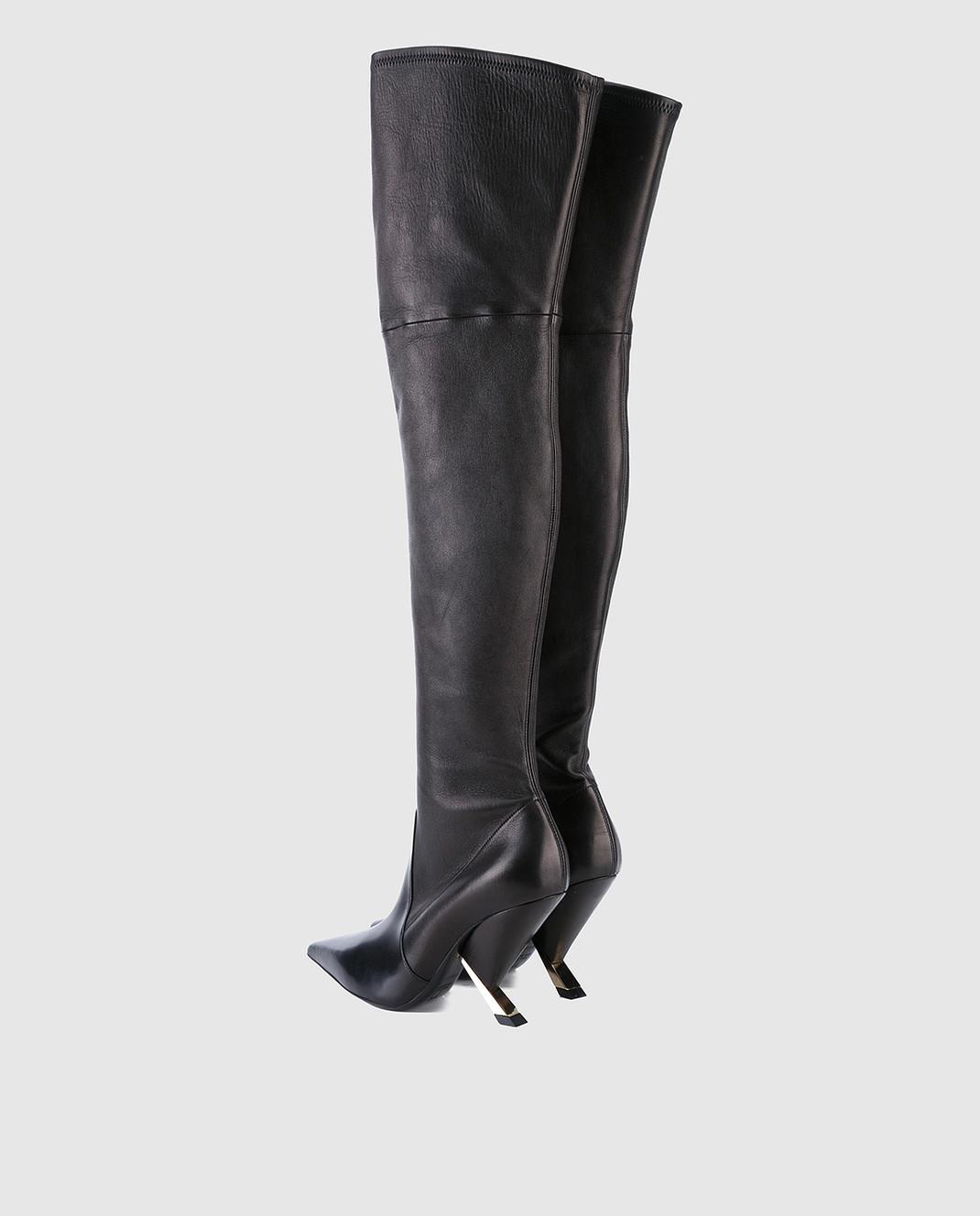 Casadei Черные кожаные ботфорты 1T722L090MPNAP изображение 3