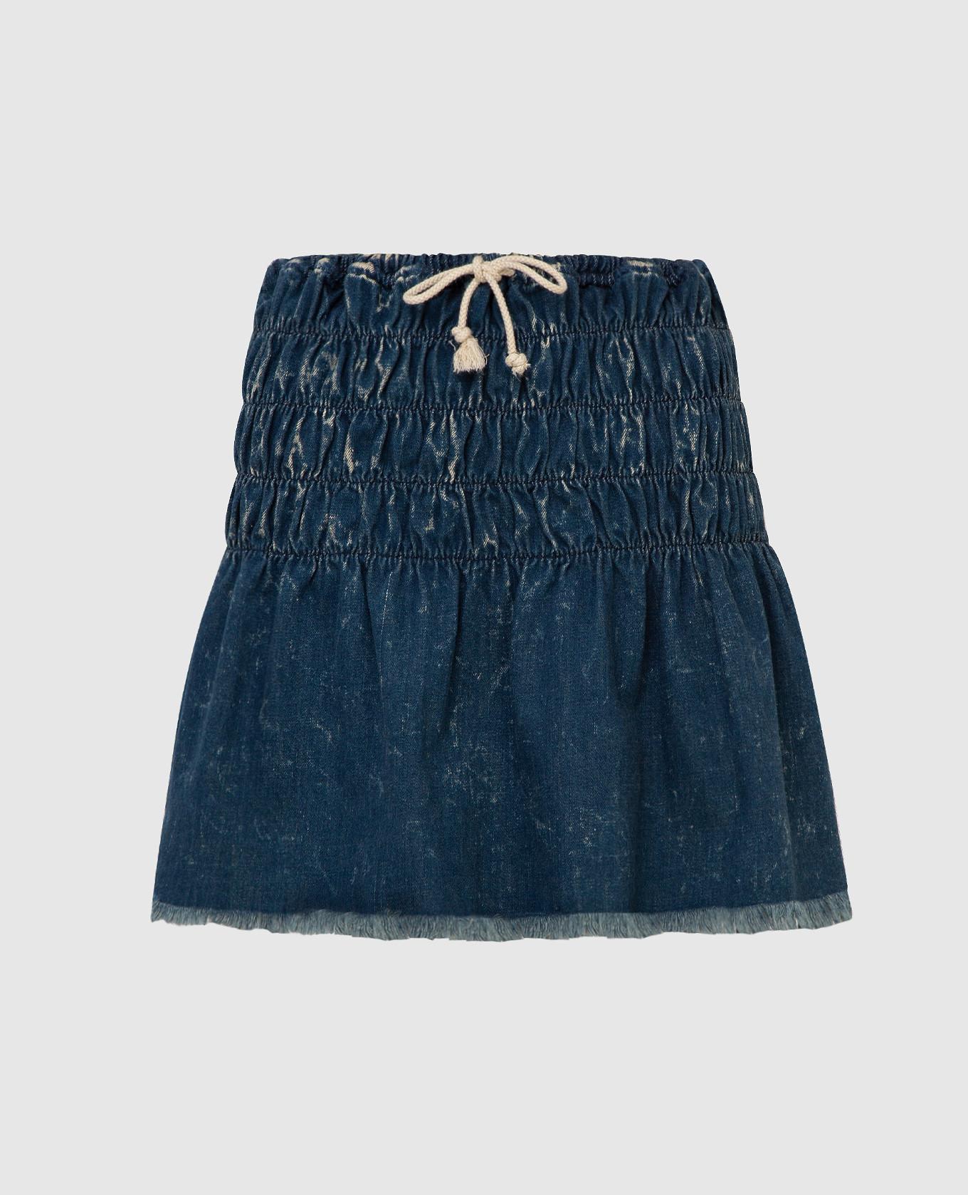Темно-синяя джинсовая юбка