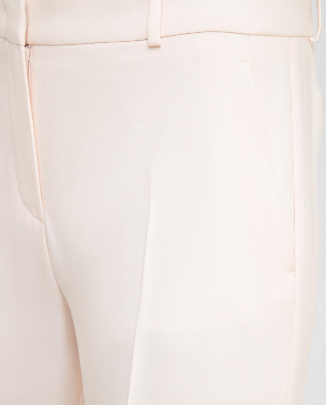 Loro Piana Розовые брюки из шелка и шерсти F1FAI5226 изображение 5