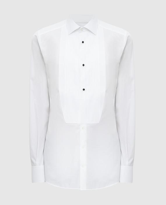 Белая рубашка с манишкой
