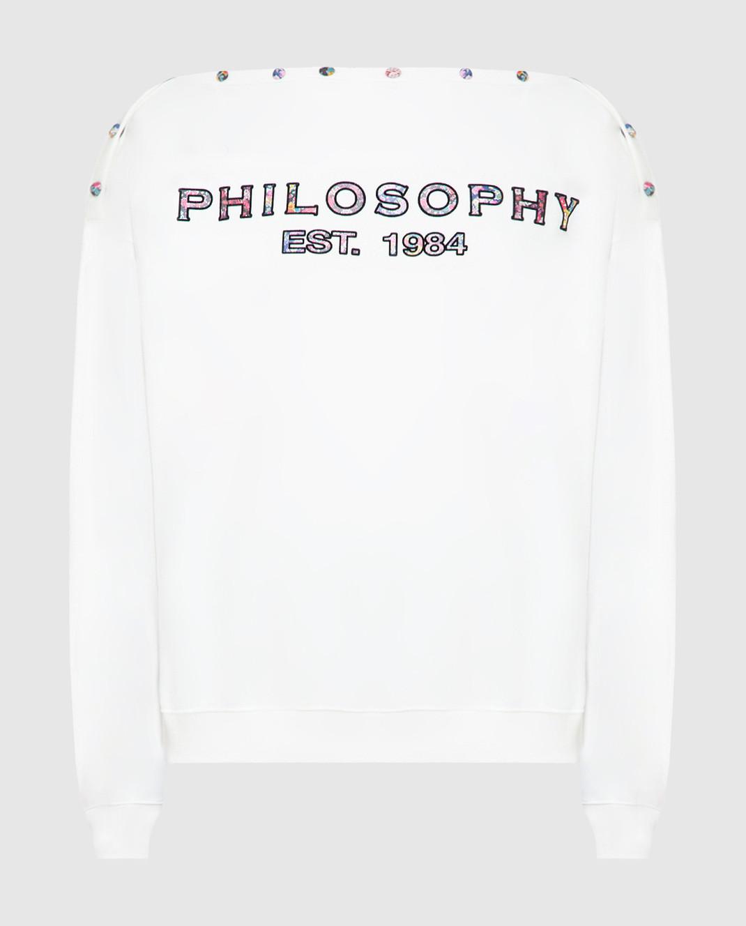 Philosophy di Lorenzo Serafini Белый свитшот изображение 1