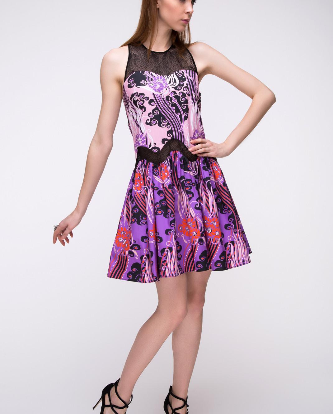 Roberto Cavalli Сиреневое платье CKT122 изображение 2