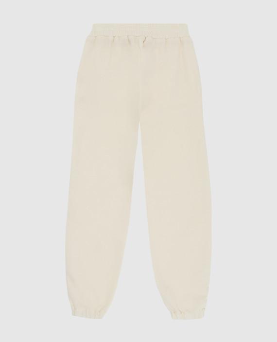 Детские светло-бежевые спортивные брюки из шерсти hover